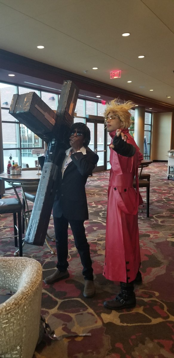 Nicholas D Wolfwood and Vash the Stampeede