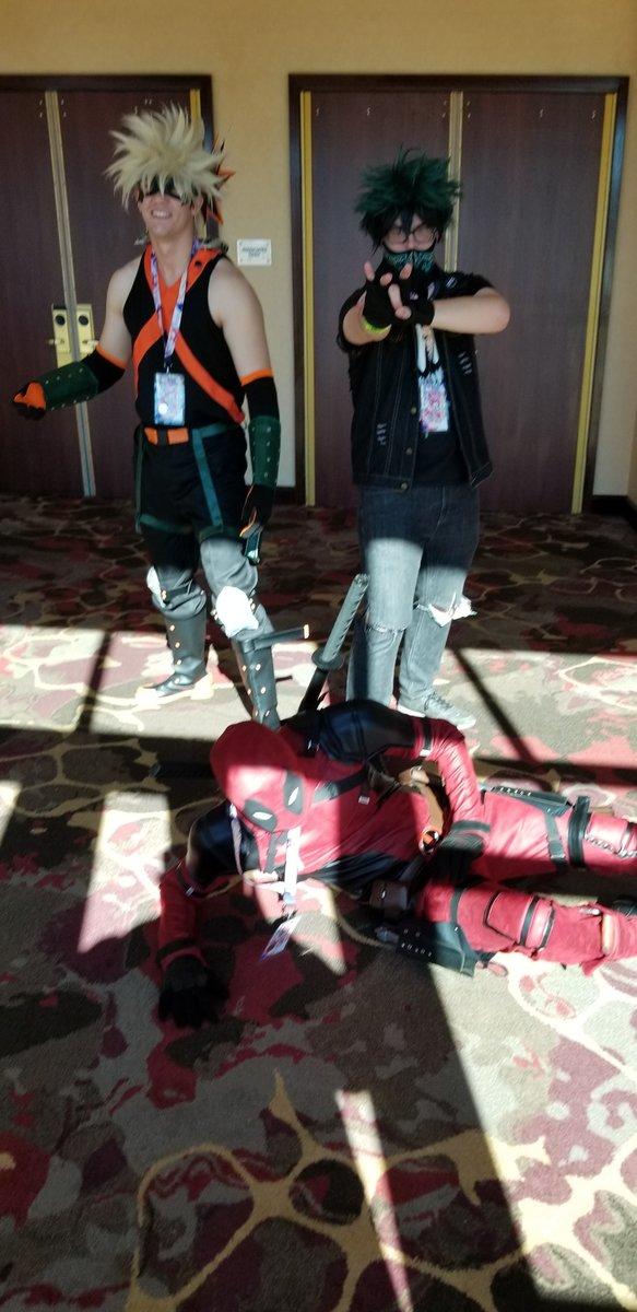 Punk Bakago, Punk Deko from My Hero Academia and Deadpool