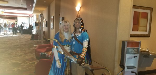 Zelda and Link From Breath of the Wild