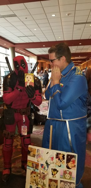Deadpool and Maye Hughes